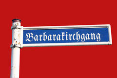 Old Road Sign. With an antique german scripture Royalty Free Stock Image