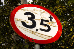 Old road sign Royalty Free Stock Photos
