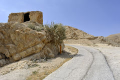 Old road to Jericho city. Stock Photo