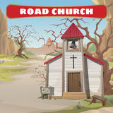 Old roadside Church in the wild West Stock Image