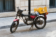 Old roadworthy motorcycle Stock Photo