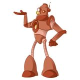 Old robot. Vector image of a cartoon old robot Stock Photography