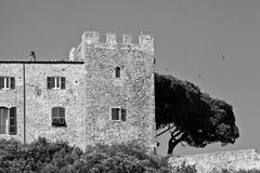 Old Rocchette fortress, Italy Royalty Free Stock Photography