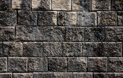 Old rock wall and moss Royalty Free Stock Photos