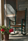 Old Rocking Chair on Cracker House Porch stock photography