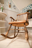 Old rocking chair. Old Rocking Sweden Chair - hand made Stock Photos