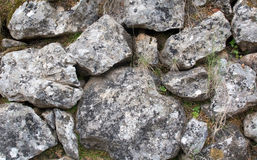 Old rocks in drystone wall Stock Photography