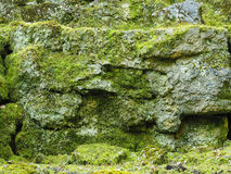 Old rocks with moss Stock Photos