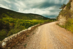 The old rocky road in the Crimean mountains Royalty Free Stock Photo