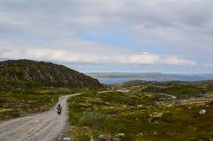 Old rocky road. Old German road, peninsula Kola Stock Photography