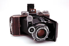 Old roll-film camera Stock Photography
