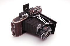 Old roll-film camera stock photos
