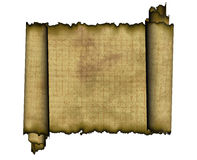 Old roll of papyrus Stock Photography