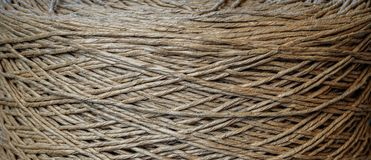 An old rolled cotton cord royalty free stock photos