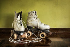 Old Roller-Skates stock photography