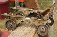 Old roller skates as seen at an annual event in paducah