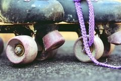 Old roller skates with retro effect Royalty Free Stock Image