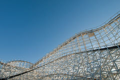 Old Rollercoaster stock photo