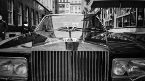 Old Rolls Royce. An old Rolls Royce car parked up in Temple Bar, Dublin City, Ireland Stock Photography