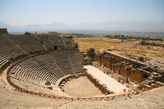Old Roman Amphitheater stock images