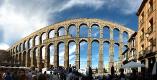 Old Roman Aqueduct Royalty Free Stock Photos