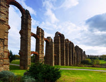 Old roman aqueduct at Merida Stock Image