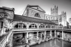 Old Roman Baths Royalty Free Stock Photos