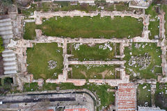 The Old Roman Baths of Odessos, Varna, Bulgaria. Top view Stock Photography