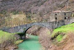 Old roman bridge Stock Photography