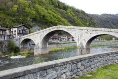 Old roman bridge Stock Images