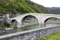 Old roman bridge Stock Images