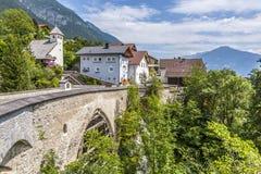 Old roman bridge in Grins, Tyrol, Austria Stock Image