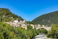 Old roman bridge in Nyons royalty free stock photography