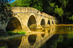 Old Roman bridge Royalty Free Stock Images