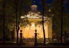 The old Roman Catholic Church of St. John the Baptist on a night. Tsarskoye Selo Royalty Free Stock Photography