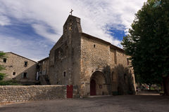 Old roman church. France, Ardeche Royalty Free Stock Photography