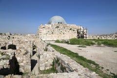 Old roman citadel hill of Jordan's capital Amman Stock Photography