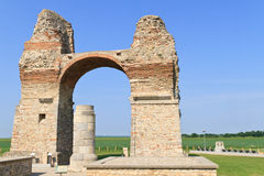 Old Roman City Gate (Heidentor) Stock Photo