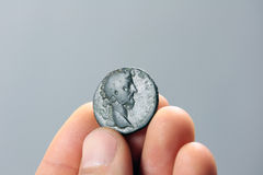 Old roman coin Royalty Free Stock Image
