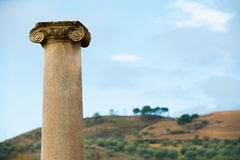 Old roman columns Royalty Free Stock Images