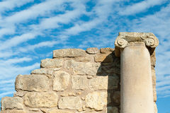 Old roman columns Stock Photos