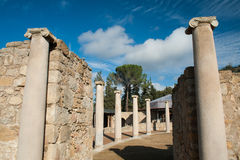 Old roman columns Stock Photo