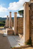 Old roman columns Royalty Free Stock Photo