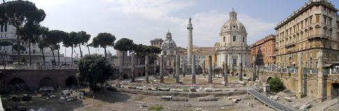 Old Roman Forum, Italy. Panoramic view of the old Roman Forum in Rome, Italy Royalty Free Stock Photos