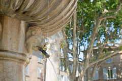 Old Roman fountain Stock Photo