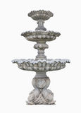 Old Roman Fountain isolated on white background. Clipping path. Royalty Free Stock Images