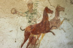 Old roman fresco Royalty Free Stock Image