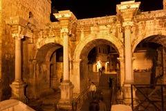Old roman Hadrian's Gate. Stock Photos