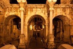 Old roman Hadrian's Gate. Stock Photo
