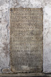 Old roman inscription Stock Image